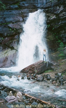 Alicia at Baring Falls in June 2004